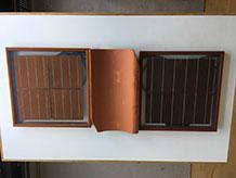 Røde solceller til tegltage